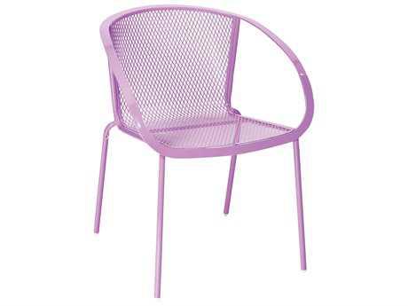 Woodard Zuma Wrought Iron Stacking Arm Chair