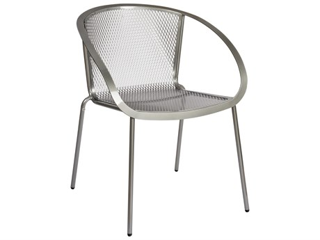Woodard Zuma Wrought Iron Stackable Dining Arm Chair