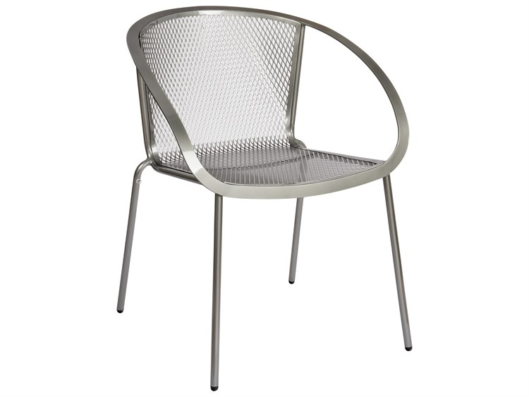Woodard Zuma Wrought Iron Stackable Dining Arm Chair PatioLiving