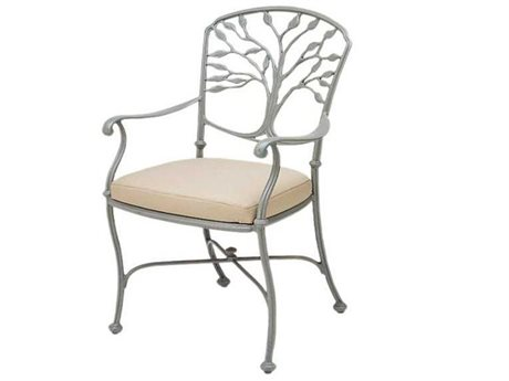 Woodard Heritage Cast Aluminum Dining Chair with Loose Cushion