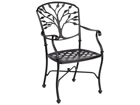 Woodard Heritage Cast Aluminum Dining Arm Chair with Loose Cushion