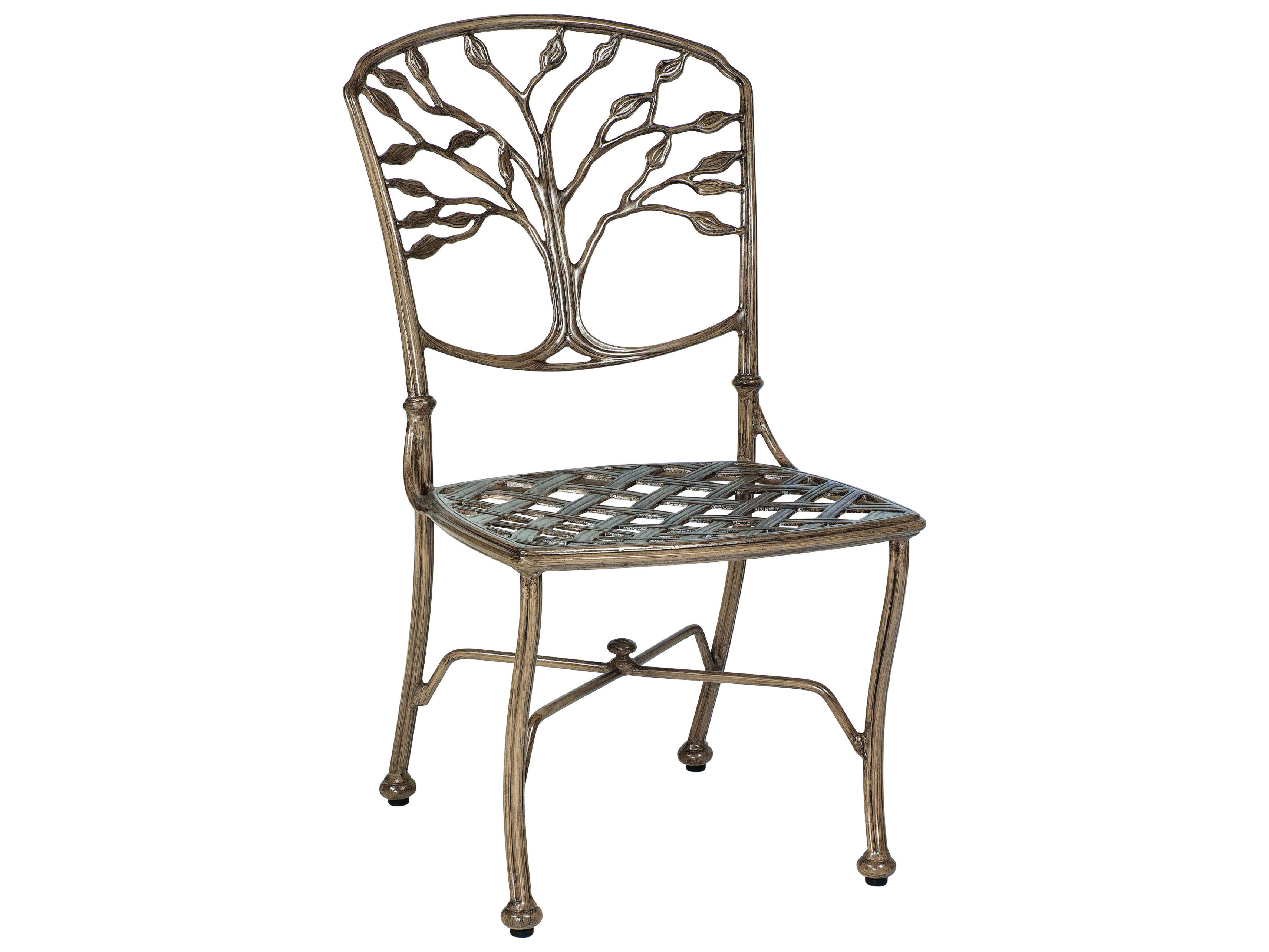 Woodard Heritage Cast Aluminum Dining Side Chair 8f0412