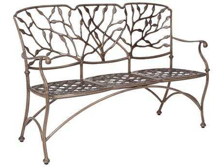 Woodard Heritage Cast Aluminum Three Seat Bench