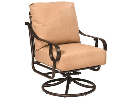 Woodard Ridgecrest Cushion Aluminum Swivel Rocker Lounge Chair
