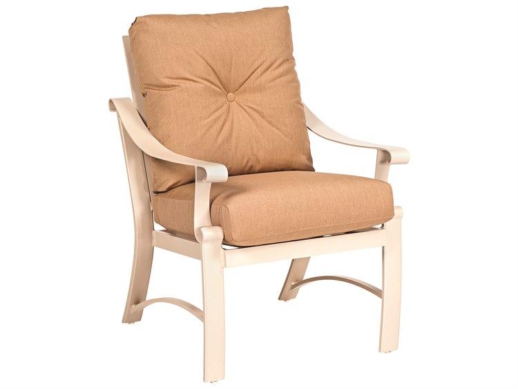 Woodard Bungalow Cushion Aluminum Dining Chair PatioLiving