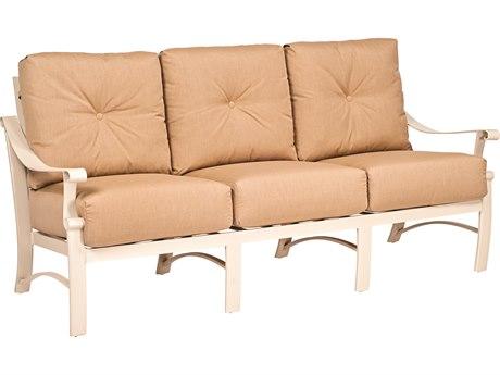 Woodard Bungalow Cushion Aluminum Sofa PatioLiving