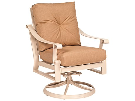 Woodard Bungalow Cushion Aluminum Swivel Rocker Lounge Chair
