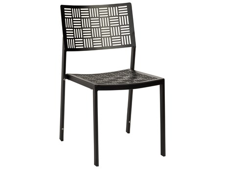 Woodard New Century Wrought Iron Stackable Dining Side Chair