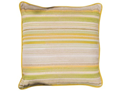 Woodard Square Throw Pillow with Two Sided Fabrics and Faux Down Fill