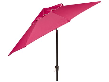 Woodard 9 8-Rib Crank Lift Push-Button Tilt Umbrella - Hammered Pewter