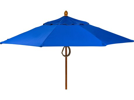Woodard Hexagon 9ft Wood Umbrella
