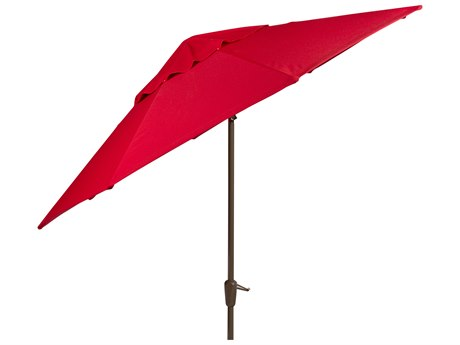 Woodard 9 Aluminum 8 rib Crank Lift Autotilt Market Umbrella PatioLiving