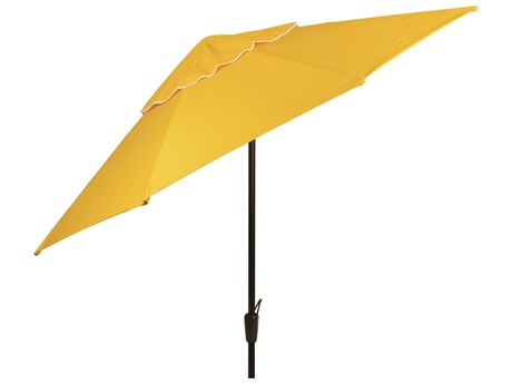 Woodard 9 Aluminum 8 Rib Crank Lift Autotilt Market Umbrella - Hammered pewter