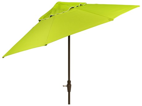 Woodard 9 8-Rib Crank Lift Collar-Tilt Market Umbrella - Champagne