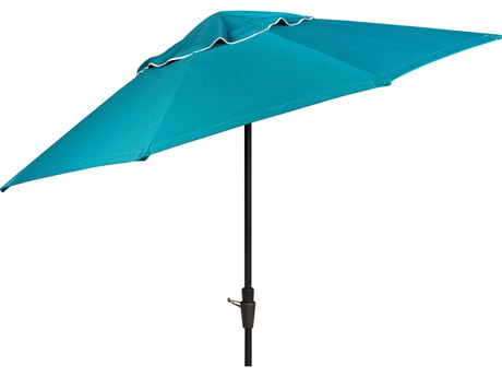 Woodard 9 Aluminum 8 Rib Crank Lift Collar Tilt Market Umbrella - Hammered Pewter