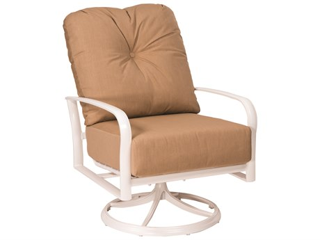 Woodard Fremont Cushion Aluminum Swivel Rocking Lounge Chair