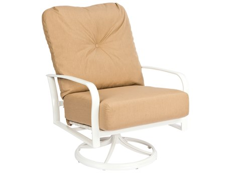 Woodard Fremont Cushion Aluminum Big Mans Swivel Rocking Lounge Chair
