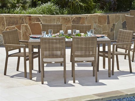 Woodard Whitecraft All Weather Dining Wicker Set