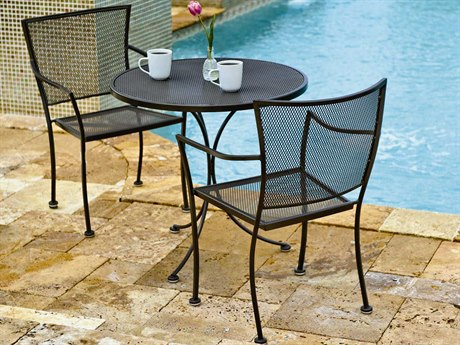 Woodard Amelie Wrought Iron Bistro Set PatioLiving