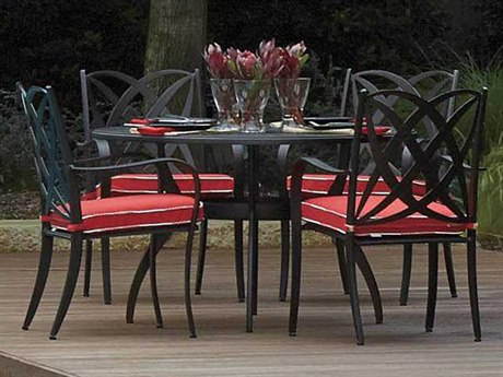 Woodard Apollo Cast Aluminum Dining Set