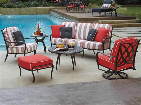Woodard Apollo Cast Aluminum Lounge Set