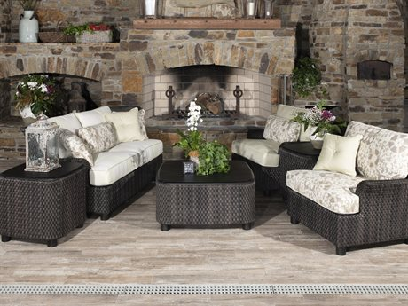 Woodard Aruba Palm Wicker Lounge Set