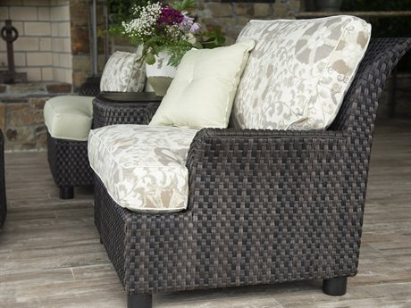 Woodard Aruba Amazon Mahogany Wicker Lounge Set