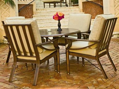 Woodard Arkadia Cushion Aluminum Dining Set