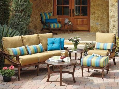 Woodard Arkadia Cushion Aluminum Lounge Set