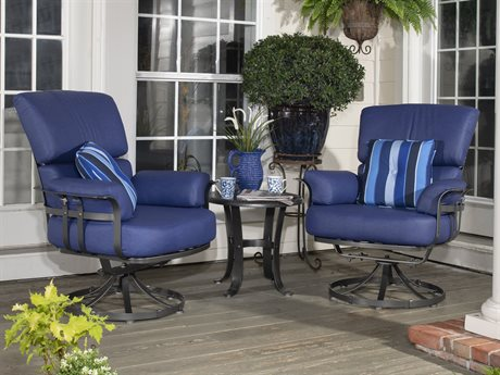 Woodard Atlas Wrought Iron Lounge Set