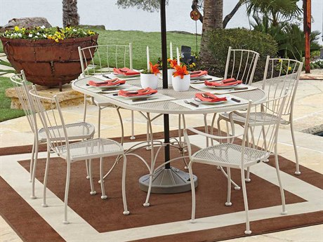 Woodard Aurora Wrought Iron Dining Set