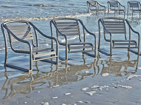 Woodard Baja Aluminum Strap Lounge Set