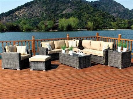 Woodard Bay Shore Wicker Lounge Set
