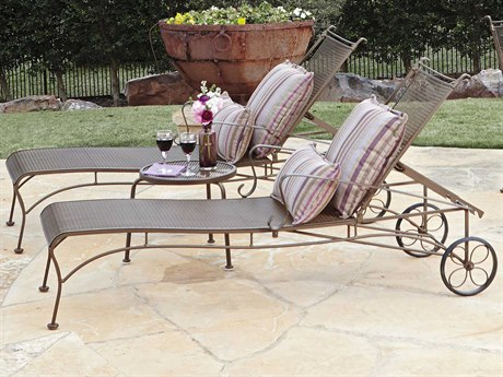 Woodard Bradford Mesh Wrought Iron Metal Lounge Set