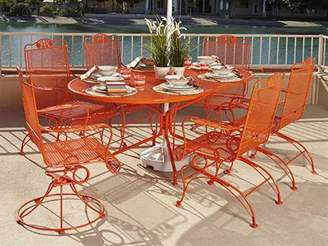 Woodard Briarwood Wrought Iron Dining Set