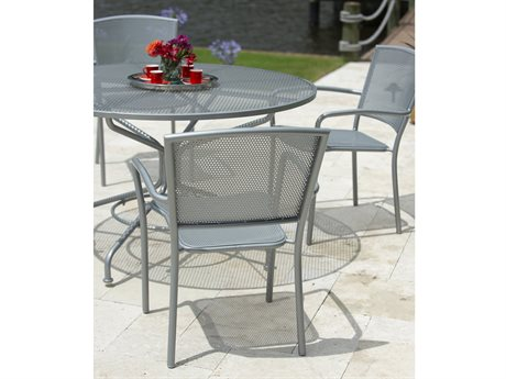 Woodard Cafe Series Mercury Wrought Iron Dining Set