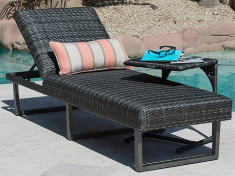 Woodard Canaveral Wicker Charcoal Gray Lounge Set