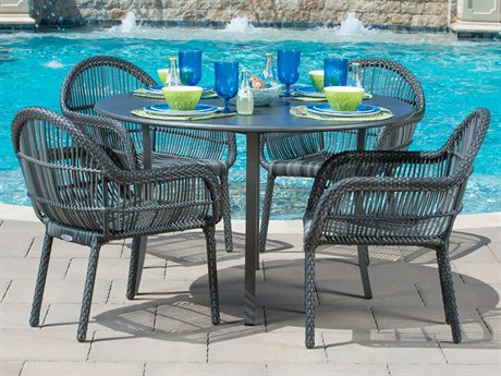 Woodard Canaveral Wicker Dining Set