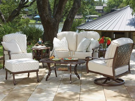 Woodard Casa Cast Aluminum Lounge Set