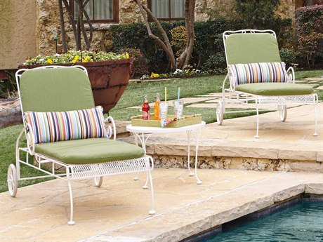 Woodard Cantebury Wrought Iron Lounge Set