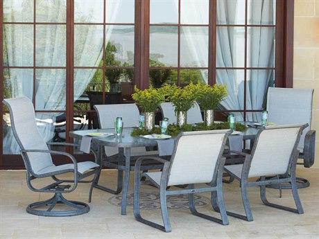 Woodard Cayman Isle Sling Aluminum Dining Set
