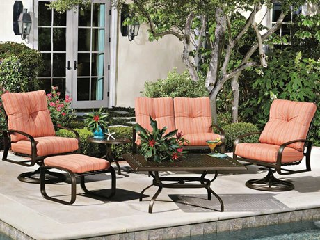 Woodard Cayman Isle Cushion Aluminum Lounge Set