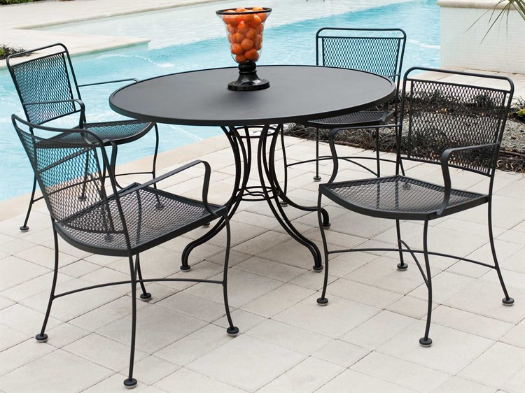 Woodard Constantine Wrought Iron Dining Set