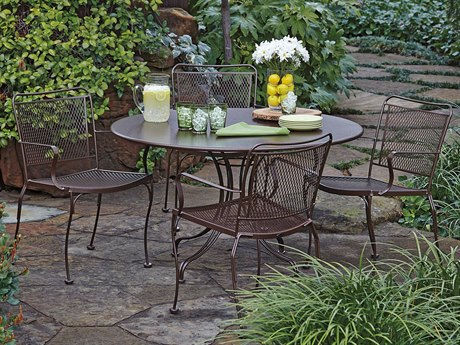 Woodard Constantine Wrought Iron Dining Set PatioLiving
