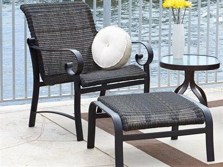 Woodard Cortland Woven Wicker Round Weave Lounge Set