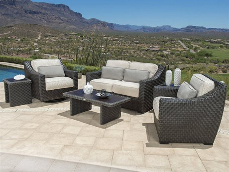 Woodard Cooper Wicker Lounge Set