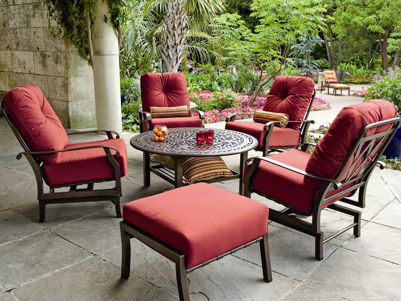 Woodard Cortland Cushion Aluminum Swivel Rocking Lounge Chair