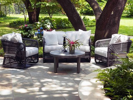 Woodard Carver Wicker Lounge Set