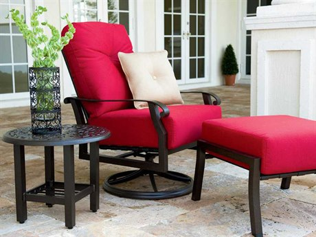 Woodard Cortland Cushion Aluminum Lounge Set WRCTNDLS