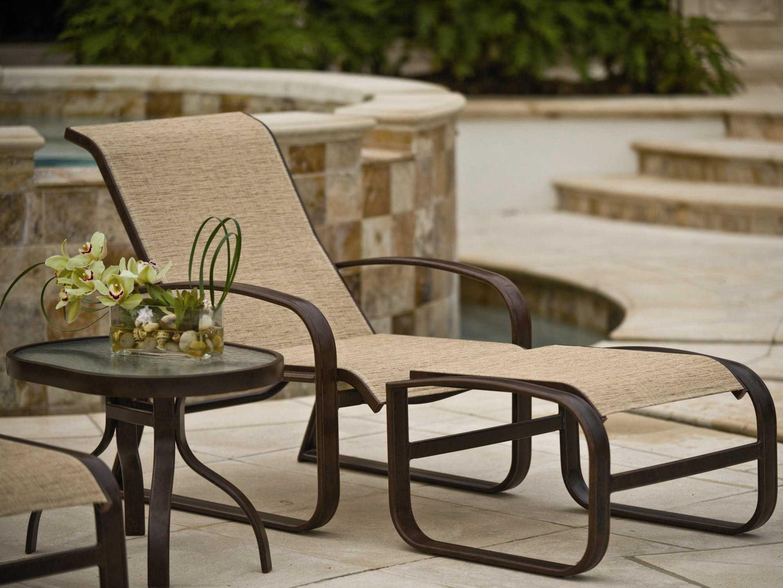 Woodard Cayman Isle Sling Aluminum Lounge Chair